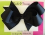 "5"" Black Boutique Bow"