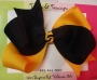 "5"" Black/Gold Boutique Bow"