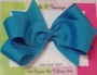 "5"" Blue Magic Boutique Bow"