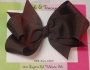 "5"" Brown Boutique Bow"