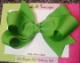 "5"" Green Boutique Bow"