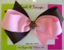 "5"" Pink Brown Boutique Bow"