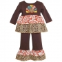 AnnLoren Girls Thanksgiving Turkey Outfit