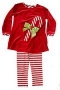 "Bailey Boys ""Christmas""  Candy Cane Tunic Pant Set"