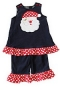 "Bailey Boys ""Christmas"" Santa Reversible Dress With Ruffles"
