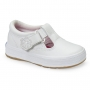 Daphne T Strap White Leather