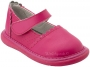 Wee Squeak Hot Pink Punched Leather Shoe