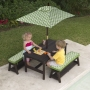 Kid Kraft Fun In The Sun Table and Benches with Umbrella