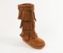 Minnetonka 3 Layer Fringe Boot in Brown