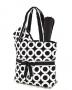 Quilted Circle Print Diaper Bag