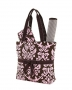 Quilted Damask 3pc Diaper Bag
