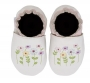 Robeez Soft Soles Stemmed Flowers - White
