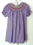 Rosalina Smocked Rosalina Dark Purple Tiny Gingham Bishop