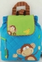 "Stephen Joseph ""Monkey Boy"" Quilted Backpack"