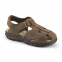 Stride Rite Angler Brown Leather Sandals