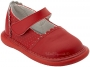 Wee Squeak Red Punched Leather Shoe