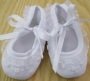 Will'Beth White Ruffled Baby Girl Shoes