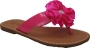 Willits Patent Thong w/Satin Flower-Flexible Sole in Fuchsia