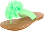 Willits Patent Thong w/Satin Flower-Flexible Sole in Lime